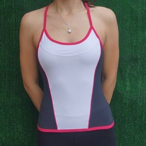 Tops - Multi color workout top with built in bra